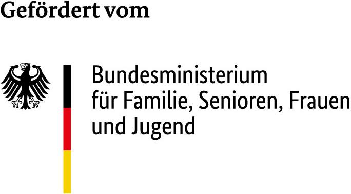 Gefördert vom Bundesministerium für Familie, Senioren, Frauen und Jugend im Rahmen des Bundesprogramms 'Demokratie leben!'